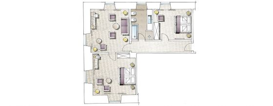 Floor plan Manor Suite