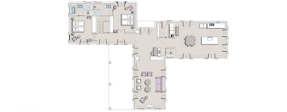 Floor plan Villa Cinco