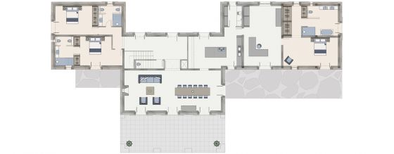 Floor plan Villa Ocho